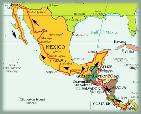 Carte Amerique Du Sud Et Amerique Centrale.Amerique Centrale Photos 4x4 Recit De Voyage Bourlingueurs