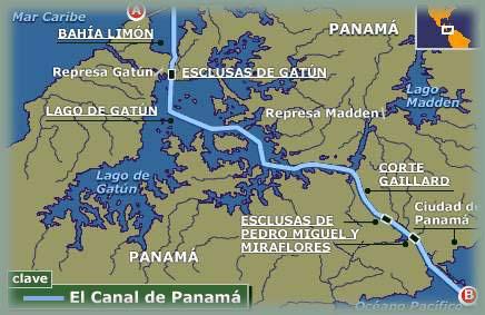 Les BOULINGUEURS..de la PLANETE.... Panama_canal_map