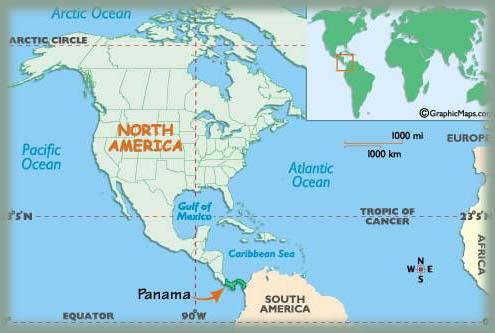 Les BOULINGUEURS..de la PLANETE.... Panama_map