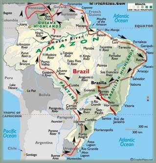 Br sil carte touristique - Office du tourisme du bresil ...