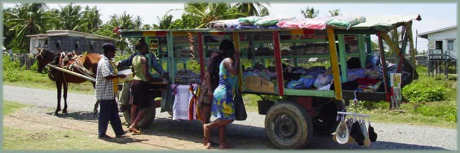 Guyana - marchand ambulant