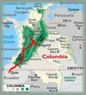 Carte Amerique Du Sud Colombie.Colombie Photos Recit De Voyage En Amerique Du Sud En 4x4