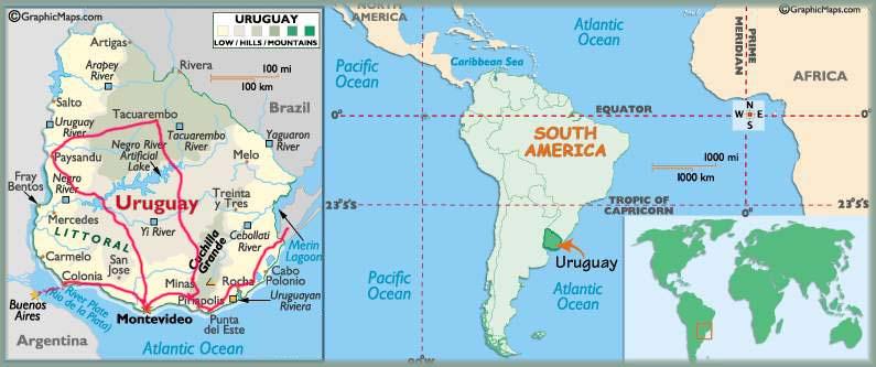 Carte Amerique Latine Uruguay.Uruguay Recit De Voyage Photos Colonia