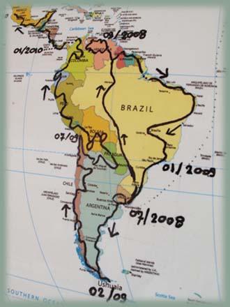 Carte Amerique Du Sud Et Amerique Centrale.Budget Voyage Amerique Du Sud Amerique Centrale Pendant 2 Ans En 4x4