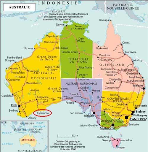 Carte Australie Esperance.Australie Esperance Tourisme Photos 4x4